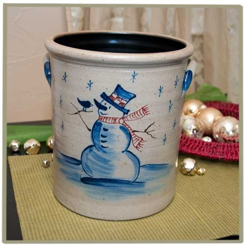 Snowman 2 Gallon Crock