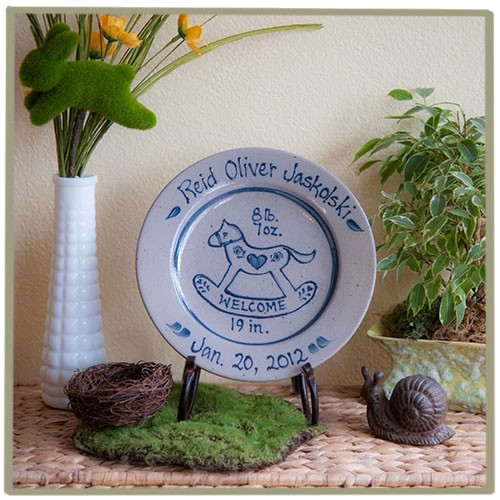 Personalized baby rocking horse birth plate new baby gifts gift personalized baby rocking horse birth plate negle Gallery