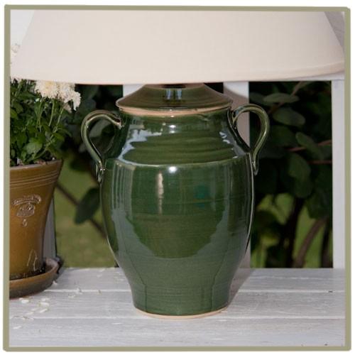 "Avignon 13"" Glazed Jar Lamp - Variety of Colors!"