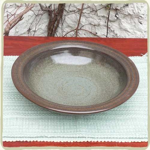 Cerulean Blue Sandstone Large Serving Bowl