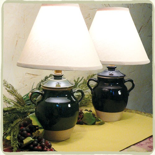 "Avignon 8"" Glazed Jar Lamp - Variety of Colors!"