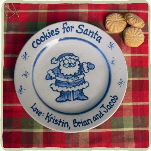 "Personalized ""Cookie's for Santa"" Plate"