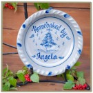 Personalized Christmas Pattern Pie Plate