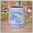 Personalized Christmas Pattern 1 1/2 Pint Crock