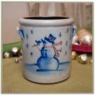 Classic 1 Quart Crock - Snowman