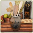 Cattails Utensil Jar