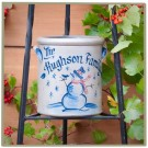 Personalized Christmas Pattern 1/2 Gallon Crock