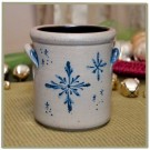 Snowflake 1/2 Gallon Crock