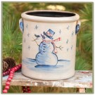Snowman 1/2 Gallon Crock