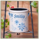 Personalized Christmas Pattern 1 Gallon Crock
