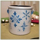 Snowflake 1 Gallon Crock