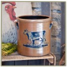 Cow 1 Gallon Crock