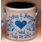 Personalized 1 Gal. Wedding Crock