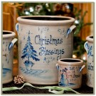 Personalized Christmas Pattern 2 Gallon Crock