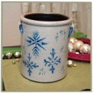 Snowflake 2 Gallon Crock