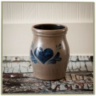 Traditional Heart 1 1/2 Quart Utensil Jar