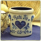 Personalized 1 1/2 Pint Crock- 5 Patterns Available!