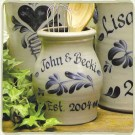 Personalized Utensil Jar- 5 Available Patterns!