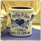 Personalized 1/2 Gal. Wedding Crock