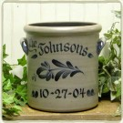 Personalized 1 Gal. Crock- 5 Available Patterns!