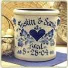 Personalized Wedding 2 Gal. Crock