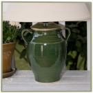 "Avignon 13"" Glazed Jar Lamp - Variety of Colors!"