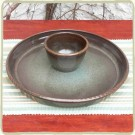 Sandstone Chip & Dip Set - Cerulean Blue