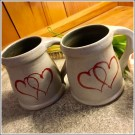 Coffee for Two Double Heart Mugs