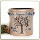 Personalized 2 Gallon Family Tree Crock