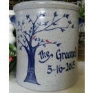 Personalized Love Bird 1 Gallon Crock