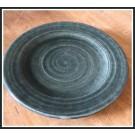 Ridges Gray Dinner Plate