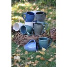Ridges Collection Coffee Mug Teal Green