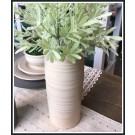 Ridges Tall Cylinder Vase