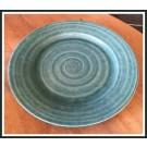 Ridges Teal Dinner Plate