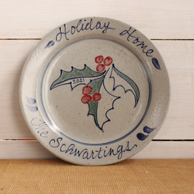 2021 Holiday Collectible Plate - Personalized