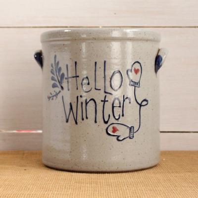 1 Gallon Crock- Hello Winter