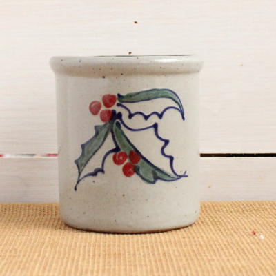 Candle Crock -  Holly