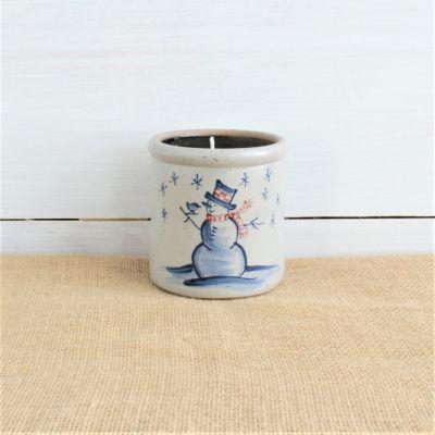 Snowman Candle Crock