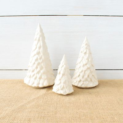 Cornerstone Village Trees (Set of 3) - White
