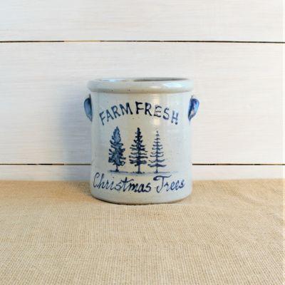 1/2 Gallon Crock - Christmas Tree Farm