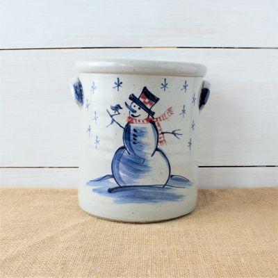 1 Gallon Crock - Snowman