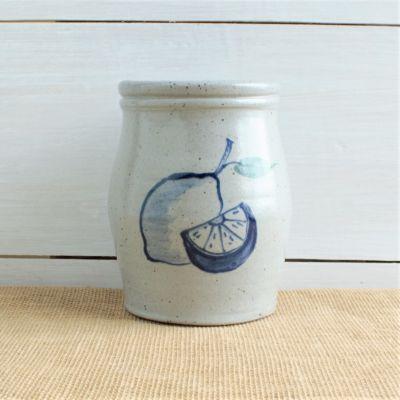 Spring Utensil Jar - Lemon Zest