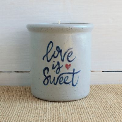 NEW Love is Sweet Candle Crock