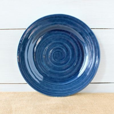 Farmhouse Ridges Dinner Plate - Kettle Blue