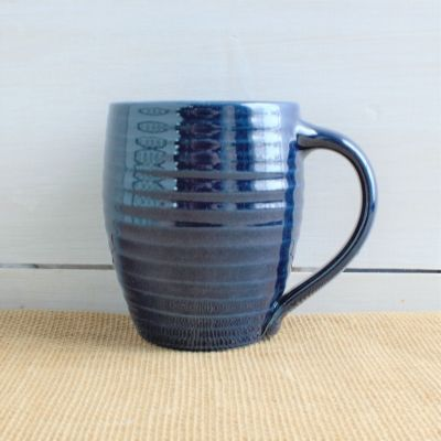 Farmhouse Ridges Mug - Kettle Blue