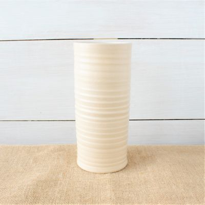 Farmhouse Ridges Tall Cylinder Vase - Drift White