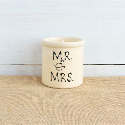 NEW Modern Mr & Mrs Candle Crock