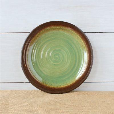 Sandstone Dinner Plate- Woodland Sage