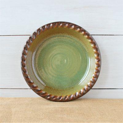 Sandstone Pie Plate- Woodland Sage