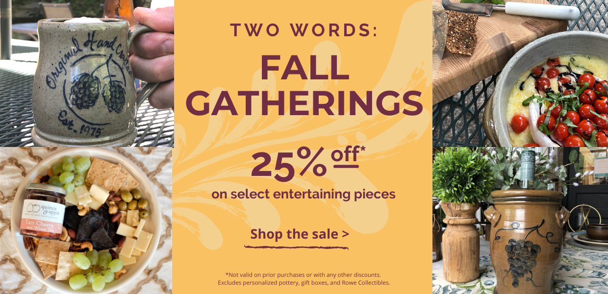 25% off Entertainment Pottery